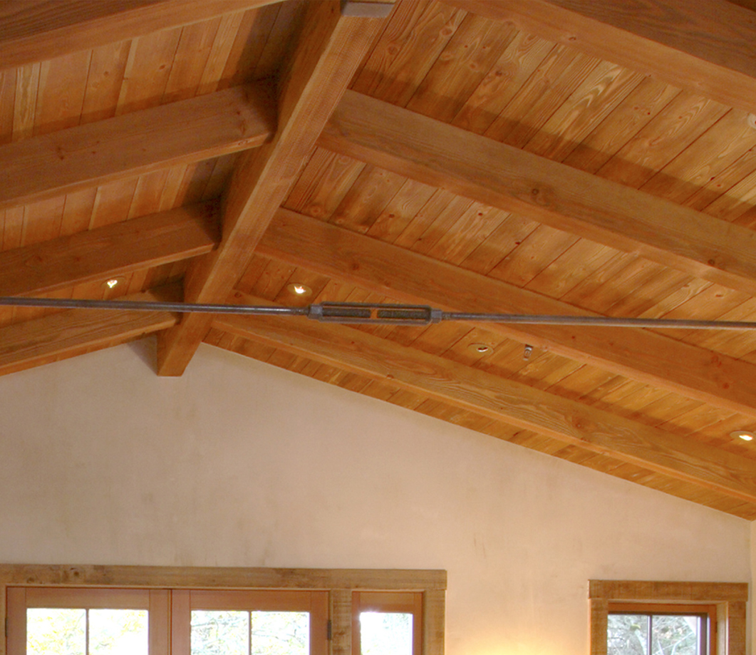How to paint your attic wood beams